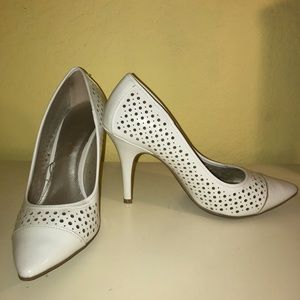 Christian Siriano for Payless White Heels